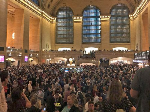 Train cancellations at New York's Grand Central Terminal set off major travel delays