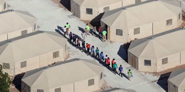 PHOTOS: See inside the tent city where migrant children are held after being separated from their parents at the US-Mexico border