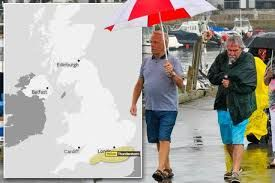 UK met office issues Yellow Warning as massive downpours expected