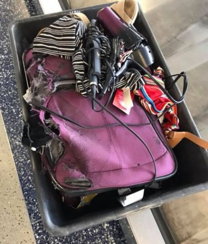 American Airlines sends shredded, greased passenger suitcase at Texas airport