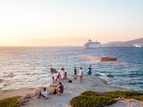 I visited the glittering Greek island of Mykonos, the summer destination of choice for billionaires - and it's a very different experience if you aren't swimming in money