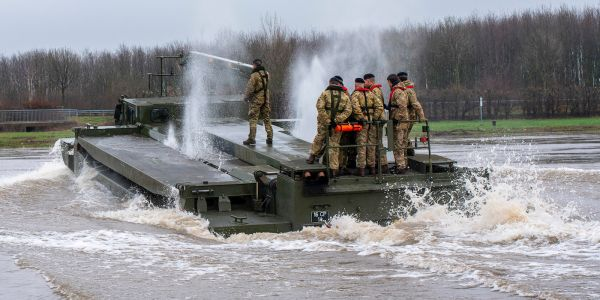 The US is sending 20,000 troops to Europe and British army engineers are already practicing to get them around