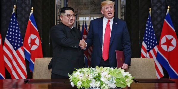 North Korean state media is calling on the US to drop sanctions after a series of 'goodwill measures'