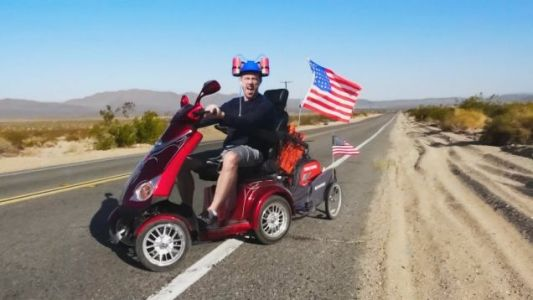 UK Man Tries To Ride Mobility Scooter Across The U.S.; Makes It 500 Miles