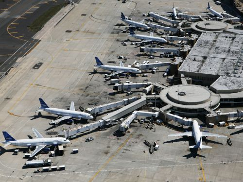 All flights bound for NYC-area and Philadelphia airports have been suspended due to a staffing shortage after employees test positive for coronavirus