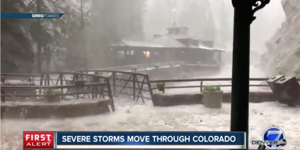 Videos show a terrifying Colorado hail storm that injured 14 people and put 5 in hospital