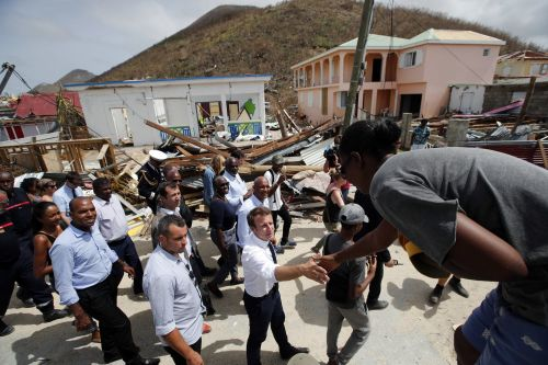 'I don't want to rebuild St. Martin as it was': French president vows help for Irma's damage in Caribbean