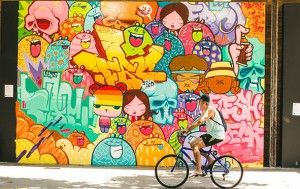 Urban art invades streets and commercial hubs of Rio