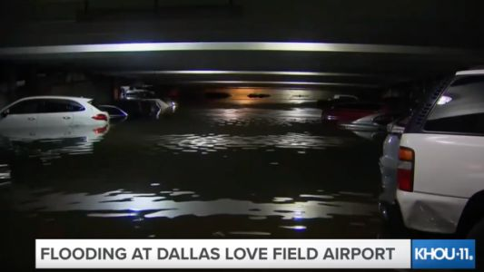 Flooding Is So Bad in Dallas That Cars at the Airport Are Under Water