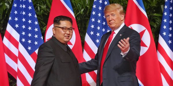 Trump thanks Kim Jong Un for 'unwavering faith' with his own White House in open mutiny