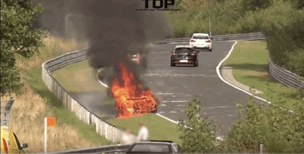 Porsche 911 GT3 Burns On Real 'Hot Lap' Around the Nürburgring