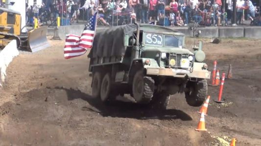 U.S. Army Truck Takes on Tuff Truck Course, Bounces Straight to the Angels