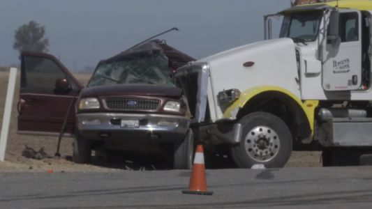 Crash Between Ford Expedition Carrying 25 People And Semi Truck Leaves At Least 13 Dead