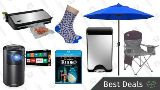 Monday's Best Deals: Camping Gear Sale, Portable Projector, Simplehuman Trash Can, and More