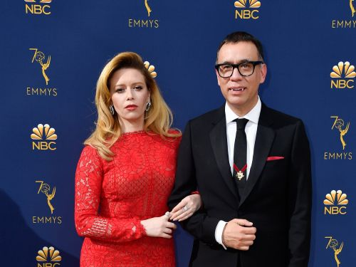 Fred Armisen showed up in fangs to the Emmys - and it seems to be the latest in a years-long gag
