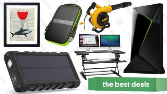 Thursday's Best Deals: NVIDIA Shield TV, Solar Battery Pack, Dictionary Art Prints, and More