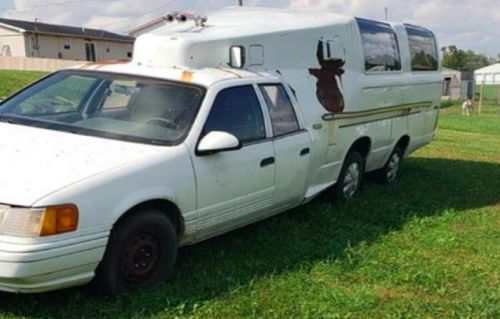 Holy Crap, Someone Built a Camper Out of Two Ford Broncos and a 1986 Mercury Topaz