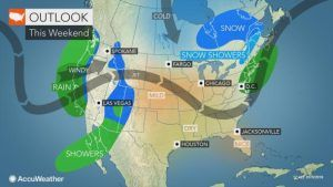 Storm brings rain, thunderstorms to eastern US into this weekend and travel hassles