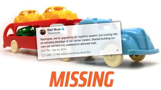 Auto Haulers Don't Know Anything About Elon Musk's Claimed 'Extreme Shortage' of Car Carrier Trailers