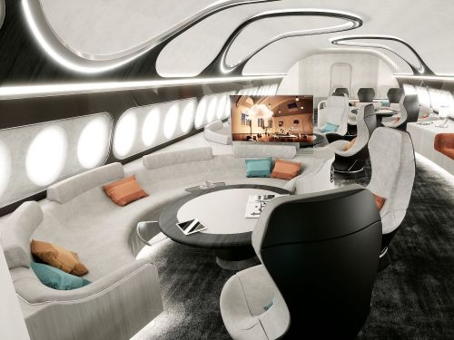 Airbus just unveiled a stunning new interior for those who want to turn a $300 million airliner into a private jet