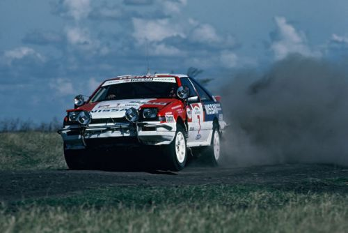 A very flat out morning to you, from the 1987 Safari Rally and the Nissan S12 Silvia 200SX