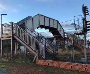 Three Ayrshire Station Footbridges Get a Paint Job