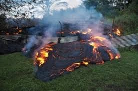 Continuous volcanic eruption in Hawaii creates new island