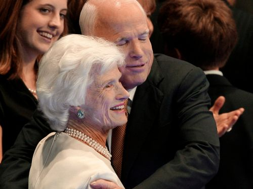 John McCain's 106-year-old mother was once told she was too old to rent a car in Europe - so she bought a Peugeot