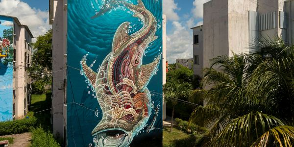 Where to Trade Beach Scenes for Street Art in Cancún