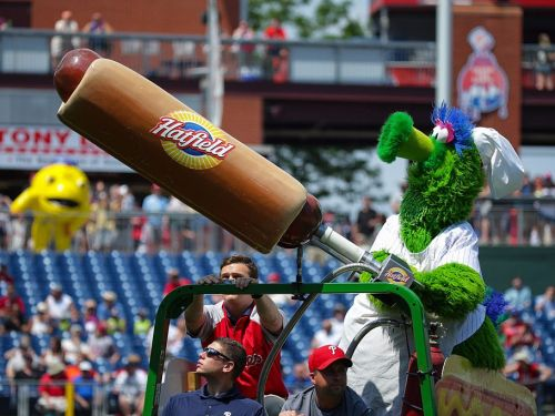 A Phillies baseball fan was injured by a flying hot dog launched out of the mascot's cannon: 'It hit me like a ton of bricks'