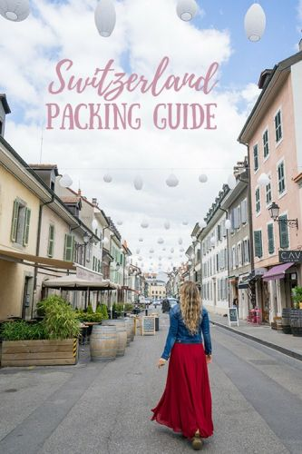 Women's Packing Guide For Switzerland