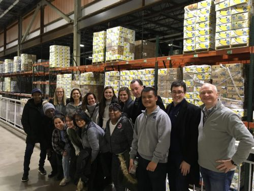 Boston Harbor Hotel Volunteers at the Greater Boston Food Bank