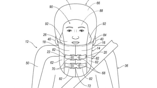 Get a Load of These Helmet and 'Burrito' Airbag Patent Applications From Ford