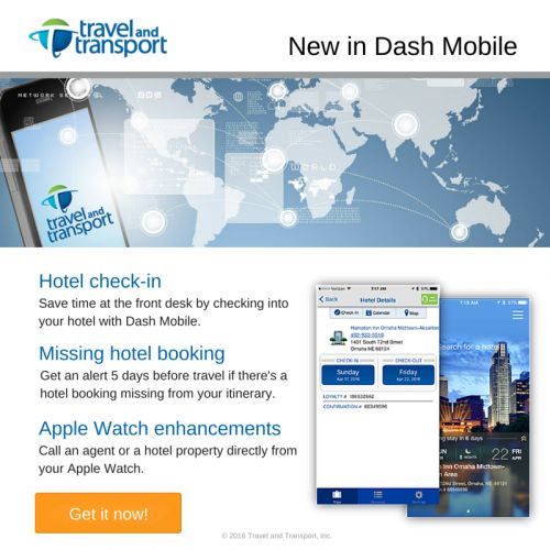 New in Dash Mobile - hotel check-in, hotel booking alerts and more!