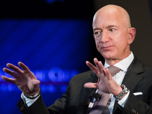 Jeff Bezos pictures Amazon as an inverted pyramid, in which he is the least important person at the bottom