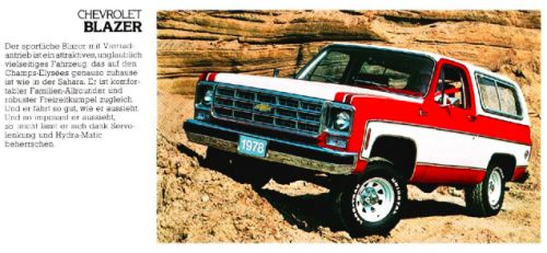 I recently spotted a 1978 Chevy Blazer at a junkyard, and-amazed by its gorgeous red interior-had no