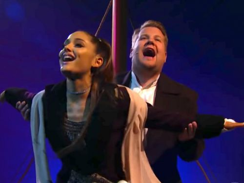Ariana Grande and James Corden recreated 'Titanic' with a modern soundtrack