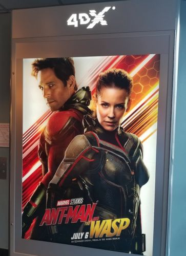 What it's like watching Marvel's 'Ant-Man and the Wasp' in a theater where the seats move and water is sprayed in your face