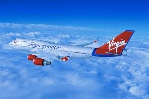 Virgin Atlantic flight Los Angeles-London jet streams at 801 mph