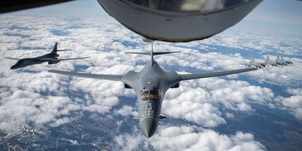 In a first, US Air Force B-1B bombers flew over Sweden for training