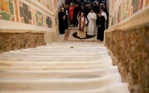 The Vatican unveiled The Holy Stairs for the first time in 300 years
