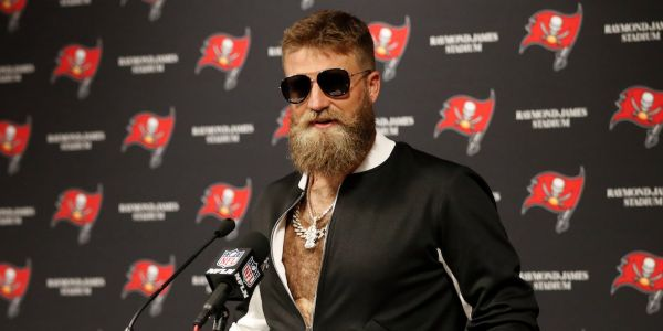 Ryan Fitzpatrick borrowed a teammate's outfit after a second straight monster game, then had to give the clothes back after his teammate showed up shirtless