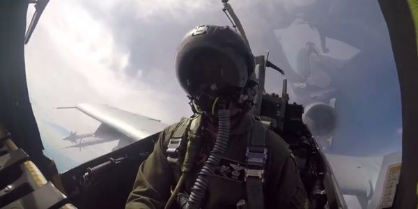 This cool video goes inside the A-10 cockpit when the Warthog starts blasting