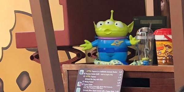 These $20 alien popcorn buckets at Toy Story Land sold out in hours on opening day and people are already selling them online