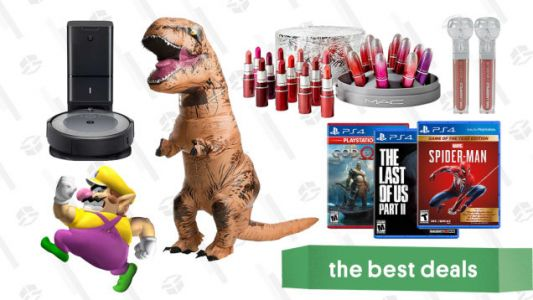 Friday's Best Deals: PS4 Games Sale, MAC Lipstick Gift Set, ASUS Gaming Laptop, Inflatable Dinosaur Costume, Just Dance 2021, Roomba i3, and More