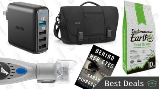 Saturday's Best Deals: Timbuk2, Diatomaceous Earth, Dremel Pet Nail Trimmer, and More