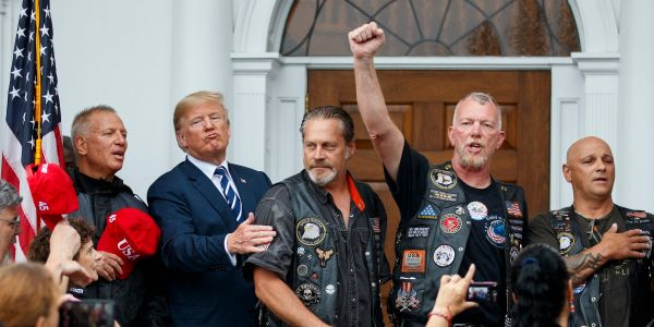 Bikers for Trump are getting their pro-Trump shirts made in Haiti because the US is too expensive