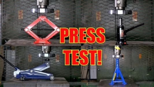A Hydraulic Press Is Here to Determine the Strongest Jack of Them All