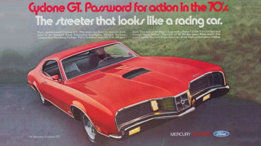Take A Moment To Appreciate The Bonkers Face of the 1970 Mercury Cyclone GT