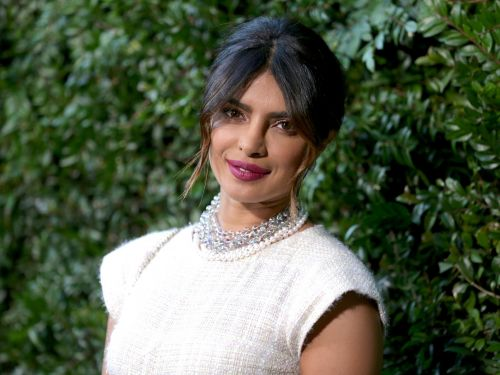 Priyanka Chopra looked ready for her wedding day in a feathered white gown at her bridal shower